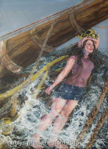 figure, ship,exhibit piece, marine,sea, painting